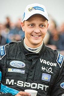 Mikko Hirvonen Finnish rally driver