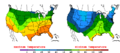 2015-10-24 Color Max-min Temperature Map NOAA.png