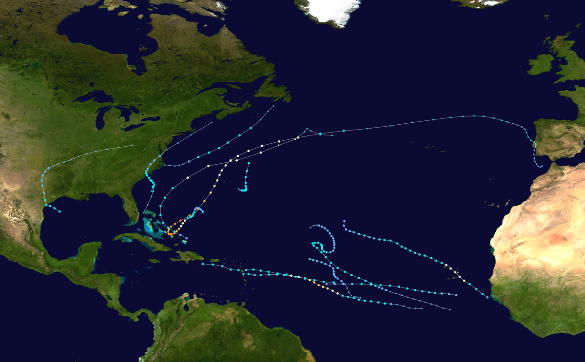describing hurricanes and cyclones in the atlantic - hurricane: a violent wind which has a circular movement, especially found in the west atlantic ocean.