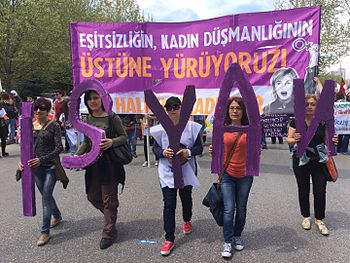 May 1, 2015 demonstration in Turkey.