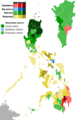 2016 Philippine vice presidential election provincial results.png