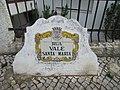 2017-10-20 Street name sign, Rua Vale de Santa Maria, Albufeira.JPG