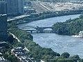 2017 Prudential Skywalk - BU Bridge and railroad bridge (WNW).jpg
