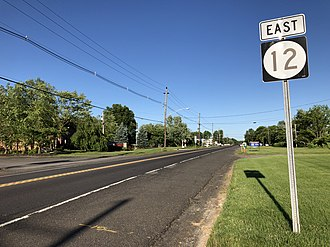 Kingwood Township, New Jersey - Route 12 eastbound in Kingwood Township