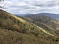 2018-10-28 13 51 18 View east-northeast from the Ivy Creek Overlook along Shenandoah National Park's Skyline Drive on the border of Greene County, Virginia and Rockingham County, Virginia.jpg