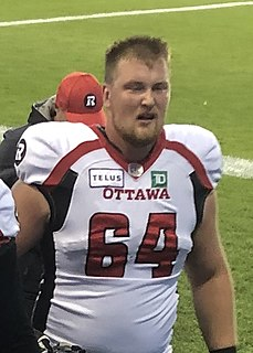 Evan Johnson professional Canadian football offensive lineman