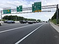 2019-05-29 17 33 21 View south along the outer loop of the Capital Beltway (Interstate 495) at Exit 50 (U.S. Route 50-Arlington Boulevard, To U.S. Route 29-Lee Highway, Fairfax, Arlington) along the edge of West Falls Church and Merrifield in Virginia.jpg