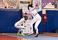 2nd Leonidas Pirgos Fencing Tournament. Double touch for Pari Filippousi and Nefeli Rodopoulou.jpg