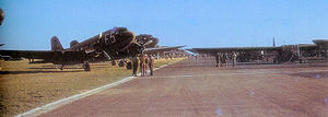 RAF Saltby - 62d Troop Carrier Squadron C-47 with Waco Gliders