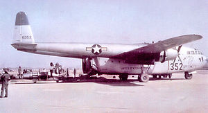 315th Air Division - 314th Troop Carrier Group C-119B Flying Boxcar operating from a base in South Korea, 1953.