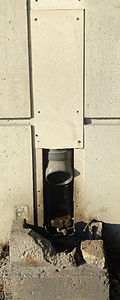 3 images of a broken downspout from the Gardiner, at Sherbourne, 2013 11 16 A.jpg