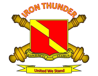 4th Battalion 27th Field Artillery Regiment (United States Army) - Unit crest of the 4th Battalion, 27th Field Artillery Regiment