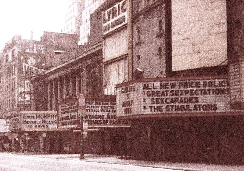File:42nd St, NYC, Lyric Theatre, 1985.jpg