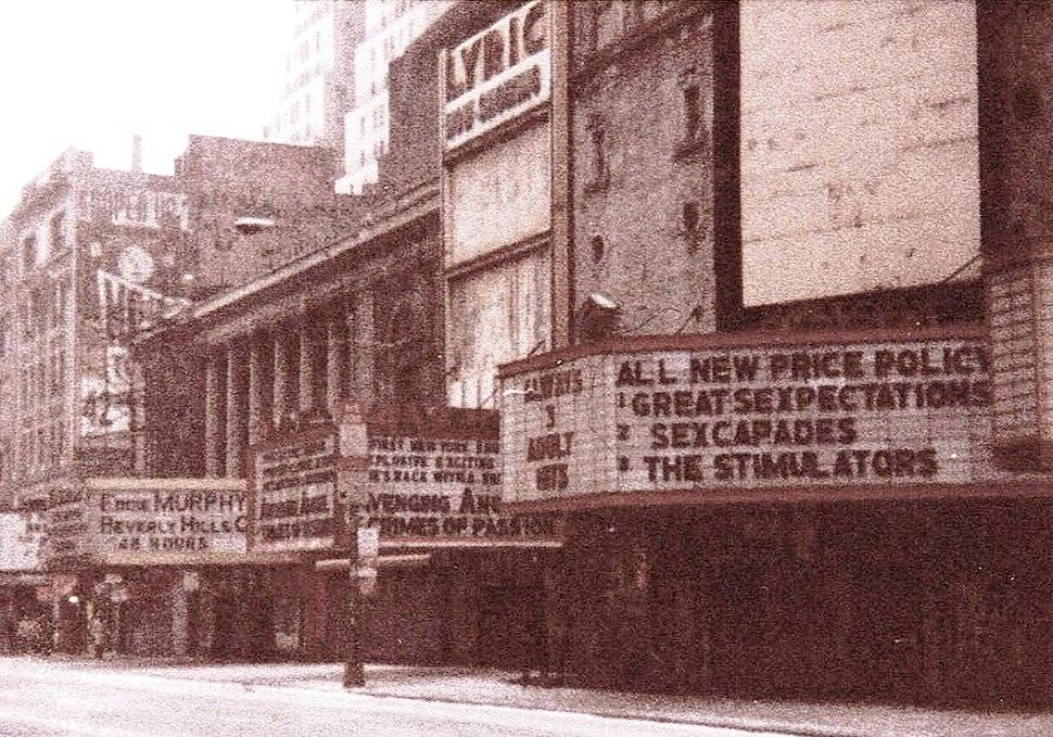 42nd St, NYC, Lyric Theatre, 1985
