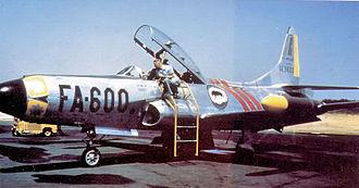 46th Fighter Training Squadron - 46th Fighter-Interceptor Squadron Lockheed F-94C-1-LO Starfire 51-13600 Dover AFB, Delaware 1954