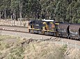 5002 leads 5025 past Pothana Lane, 2016.jpg