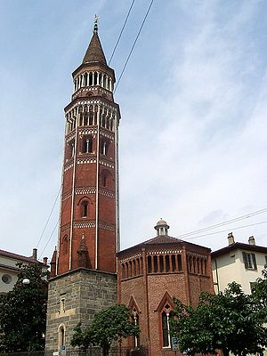 San Gottardo, Milan - The Bell tower.