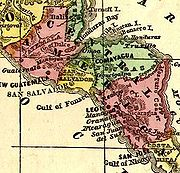 Map of the Republic of Central America