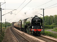 60163 Tornado Private Charter Cathedrals Express Top Gear Race 25 April 2009 Newcastle pic 8.jpg