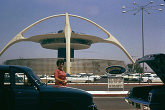 Los Angeles International Airport - LAX Theme Building, July 1962
