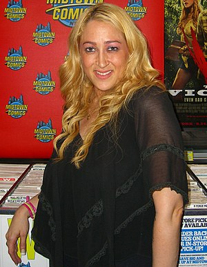 Jennifer Blanc - Blanc promoting her film, The Victim, during an August 23, 2012 appearance at Midtown Comics in Manhattan.