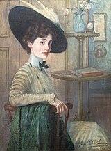 81 - Autoportrait au chapeau vert - Jane Atché, 1909 - Musée du Pays rabastinois - inv.2008.38.1.jpg