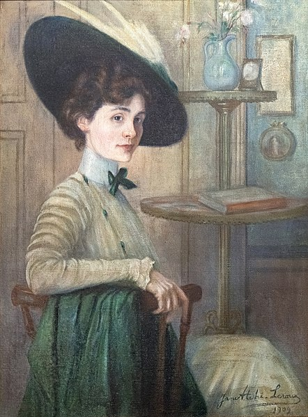 File:81 - Autoportrait au chapeau vert - Jane Atché, 1909 - Musée du Pays rabastinois - inv.2008.38.1.jpg