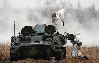 9K35 Strela-10 - Image: 9A34 Strela 10 4th Separate Tank Brigade (3)