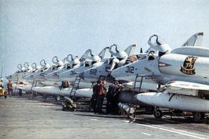 A-4F Skyhawks on USS Hancock (CVA-19) c1969.jpg