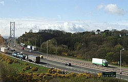 A90 approach to Forth Road Bridge - geograph.org.uk - 406848.jpg