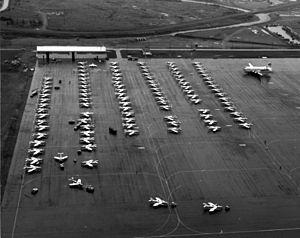 ANG F-84Fs at Goose Bay during 1961 Berlin crisis.jpg