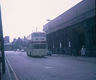 Blackfriars, Leicester - Image: A Bus in Leicester City Centre (2) geograph.org.uk 2808257