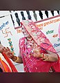 A Marwari, Rajashthani, india dancing lady during marrige.jpg