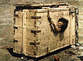 A Mongolian woman in a box.jpg
