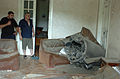 A Russian missile lies largely intact in a home in Gori.jpg