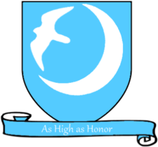 Coat of arms of House Arryn A Song of Ice and Fire arms of House Arryn blue scroll.png