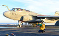 A U.S. Navy EA-6B Prowler aircraft assigned to Electronic Attack Squadron (VAQ) 131 prepares to launch from the flight deck of the aircraft carrier USS Ronald Reagan (CVN 76) Nov. 6, 2013, while underway in 131106-N-UK306-015.jpg