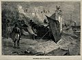 A burning funeral pyre, Calcutta Wellcome V0050672.jpg