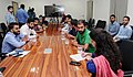 A group of students from Jammu and Kashmir studying in other states, interacting with media at the residence of the Union Home Minister, Shri Rajnath Singh, in New Delhi on September 08, 2016.jpg