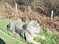 A lion on the footpath - geograph.org.uk - 439221.jpg