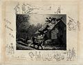 A scene showing a group of cats seeking refuge from dogs on Wellcome V0020958.jpg