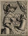 A seventeenth century gentleman with a broken pillar; repres Wellcome V0007637EL.jpg
