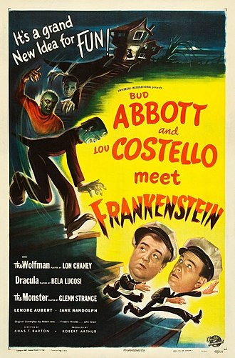 Abbott and Costello Meet Frankenstein - Theatrical release poster