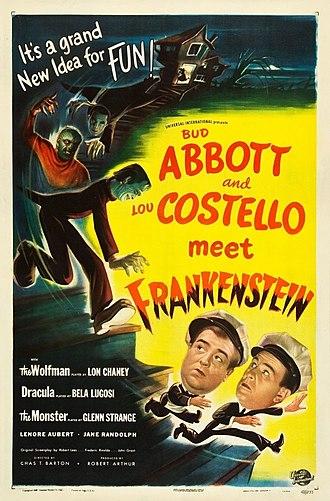 Abbott and Costello Meet Frankenstein - Theatrical release poster