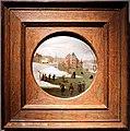 Abel grimmer, il mese di febbraio, o inverno, pattinatori presso un castello, 1590-1610 ca..JPG