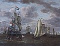 Abraham Jansz. Storck (1644-1708) - A Whaler and Other Ships at Anchor before a Port - 1401309 - National Trust.jpg