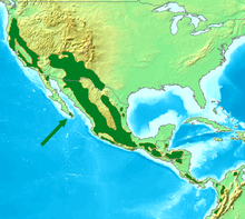 Acorn Woodpecker Distribution Map.png