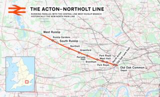 Acton–Northolt line Railway line in West London