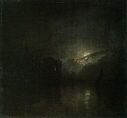 Seestück bei Mondbeleuchtung