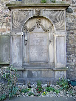 Smith's burial place in Canongate Kirkyard Adam Smith Grave.JPG